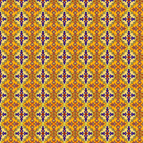 Golden Kilim Ornate Coordinate, Small fabric by palifino on Spoonflower - custom fabric