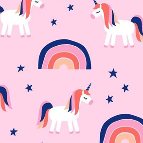 unicorn dreams on pink