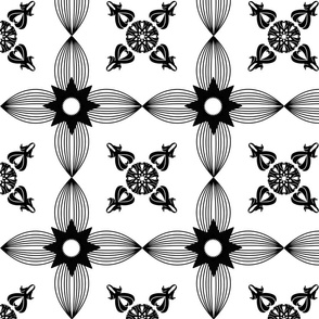 Tile Black-White