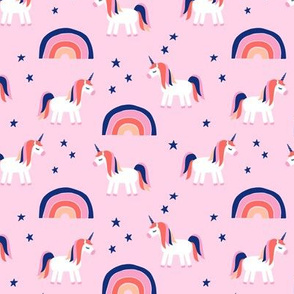 (small scale) unicorn dreams on pink