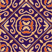 Czech tile purple and Hermes orange