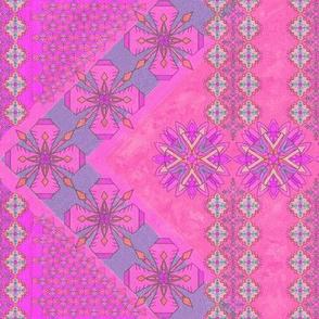 Pink Kilim Border, Vertical