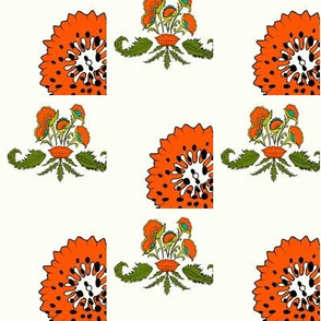 Dotted Floral and Leaves
