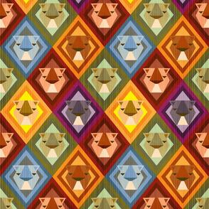 Kilim Lions - Small Scale