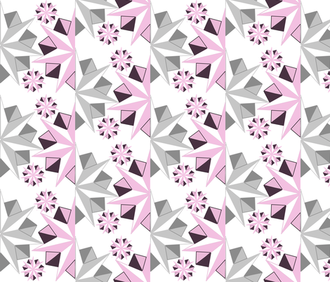 fractal origami floral fabric by lbehrendtdesigns on Spoonflower - custom fabric