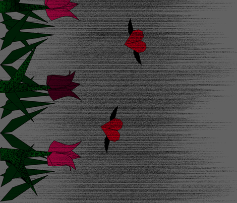 Can you feel my love fabric by burninglilly on Spoonflower - custom fabric