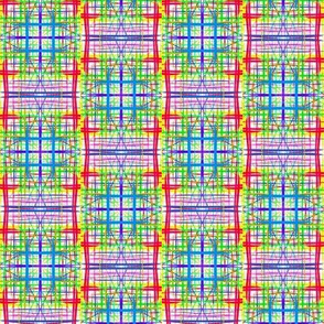 Bright Gauzy Checks - Small Scale