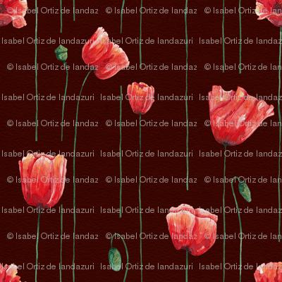 Poppies Time on Garnet