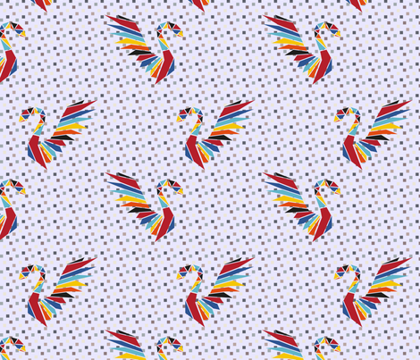 ORIGAMI GOOSE fabric by jacquart on Spoonflower - custom fabric