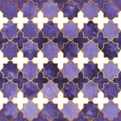Moroccan tiles inspiration // ultraviolet purple golden lines