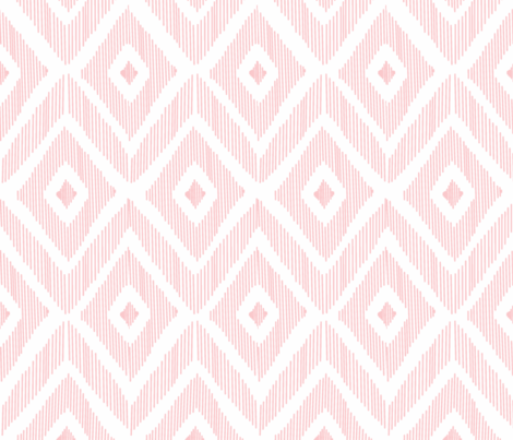 Ikat Pink  fabric by fat_bird_designs on Spoonflower - custom fabric