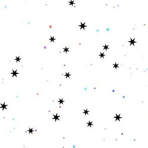 starry white skies