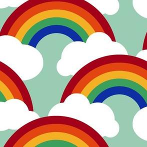 Egyptian circle rainbow