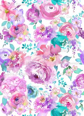 mint purple floral tiny