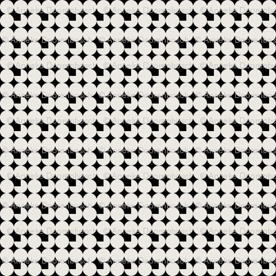 faux-uni dots-black and white reverse