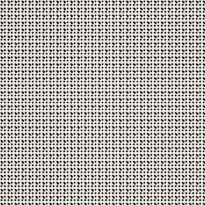 faux-uni dots-black and white reverse