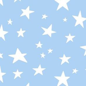 stars on light blue - unicorn dreams coordinate