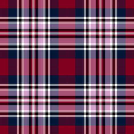 Plaid for Roses, Beaded and Scribbled fabric by anniedeb on Spoonflower - custom fabric