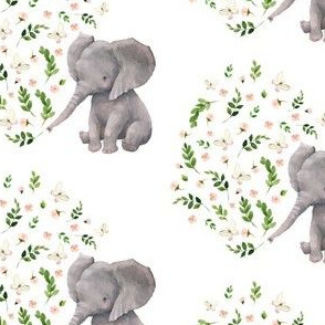 "4"" FLORAL BABY ELEPHANT VERSION 2"