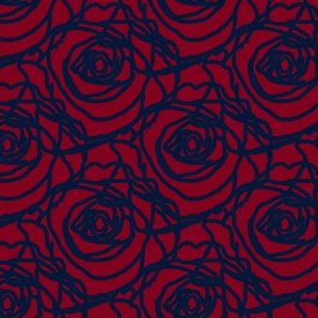 Scribbled Roses (#031838 on wine)