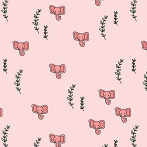 Elephant jungle nature love gender neutral pink