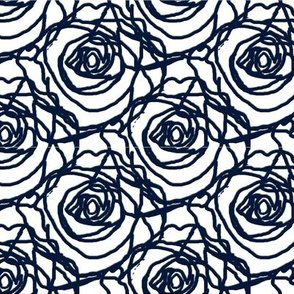 Scribbled Roses (#031838 on white)