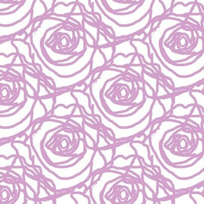 Scribbled Roses (#d3a0cc on white)