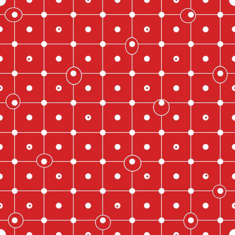Ziggy Dot strawberry fabric by lilyoake on Spoonflower - custom fabric