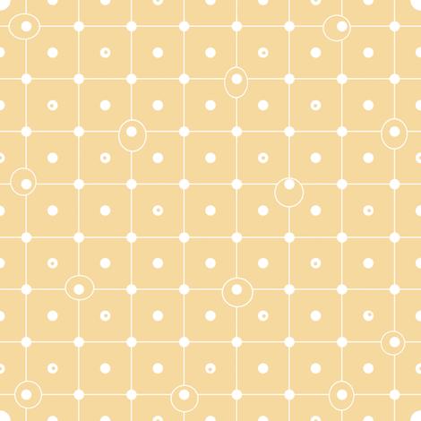 Ziggy Dot buttercup fabric by lilyoake on Spoonflower - custom fabric