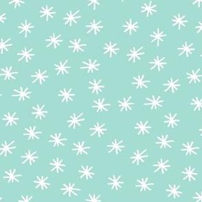 Mint Twinkle Hand Drawn Geometric Pattern Baby Nursery GingerLous