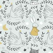 Fable Swans- mint