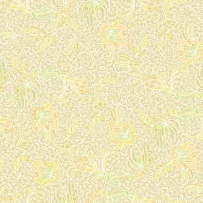 Yellow-golden indian floral