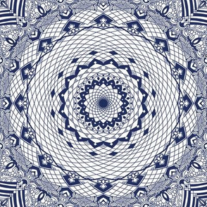 Mandala Project 599 | Boho Blue Willow China Pattern