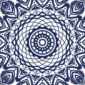 Project 613 | Boho Blue Willow China Pattern