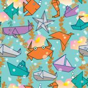 Origami-Ocean Life