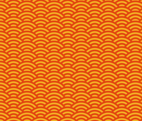 scallops in orange and gold fabric by weavingmajor on Spoonflower - custom fabric