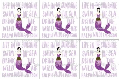 6 loveys: sparkle mermaids purple