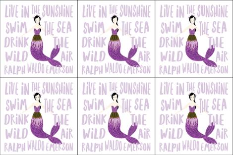 6 loveys: sparkle mermaids purple fabric by ivieclothco on Spoonflower - custom fabric