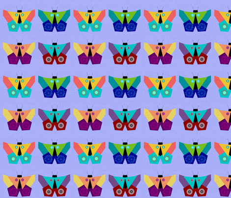 Origami Butterflies fabric by painted_poetry on Spoonflower - custom fabric
