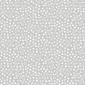 Snow bubbles - Arctic collection - white on Dove grey