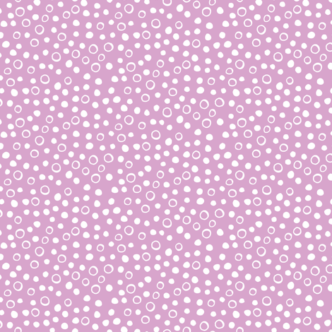 Snow bubbles - Arctic collection - white on pink fabric by cecca on Spoonflower - custom fabric