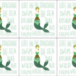 6 loveys: sparkle mermaids mint
