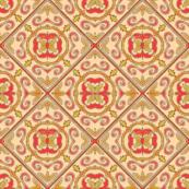 Czech tile in pink