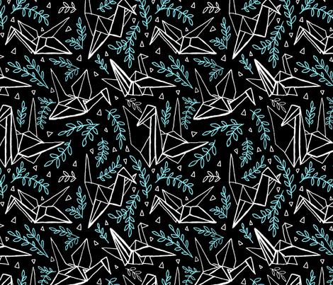 ORIGAMI CRANES fabric by j_e_c_scott on Spoonflower - custom fabric