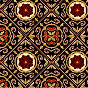 Czech tile with daisy