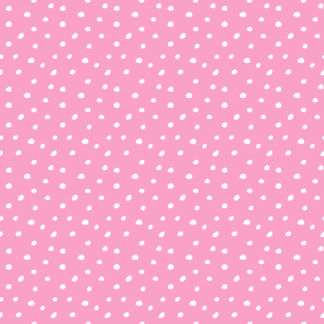 unicorn dream coordinate - spots on pink fabric by littlearrowdesign on Spoonflower - custom fabric