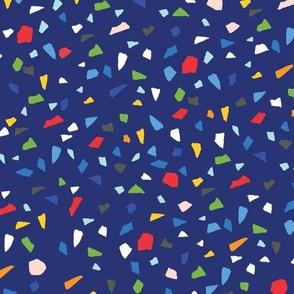 confetti-dark blue