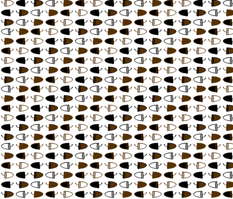 Acorns fabric by monark on Spoonflower - custom fabric