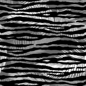 Tropical Animal Print Zebra Black White Grey Geometric Pattern