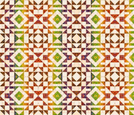 Modern Kilim - Rainbow and Earth fabric by elramsay on Spoonflower - custom fabric